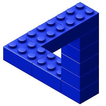 Escher Toy Bricks - Blue by chwatson