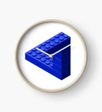 Escher Toy Bricks - Blue Clock