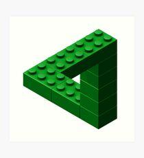 Escher Toy Bricks - Green Art Print