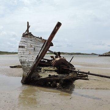Shipwreck Bunbeg Beach Donegal Ireland by mikequigley