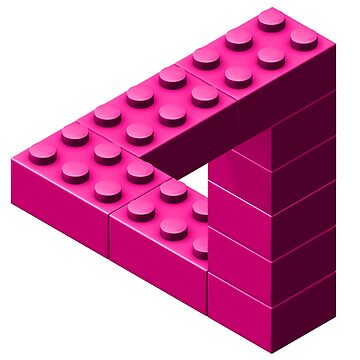 Escher Toy Bricks - Pink by chwatson