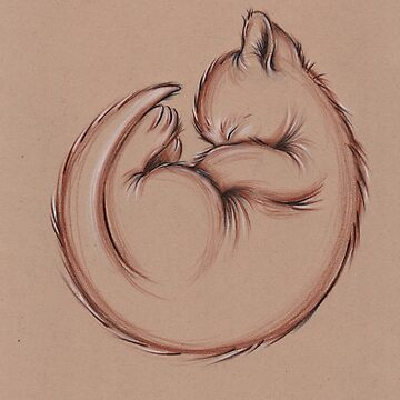 Sleepy Little Kitty - Prisma Pencil Cat Drawing by tranquilwaters