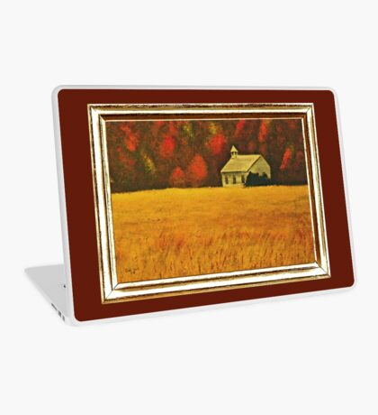 MOUNTAIN AUTUMN, ACRYLIC PAINTING, DISPLAYED WITH SYNTHETIC FRAME  Laptop Skin