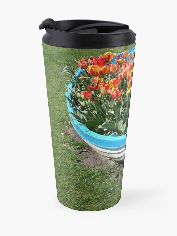 Alternate view of A Boat Load Of Flowers Travel Mug