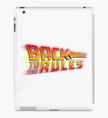 Back to the Rules iPad Case/Skin