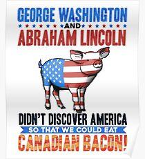 Abe Lincoln George Washington History Prank Poster