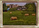 A LITTLE BIT OF COUNTRY, ACRYLIC PAINTING, DISPLAYED WITH SYNTHETIC FRAME by Bob Hall©