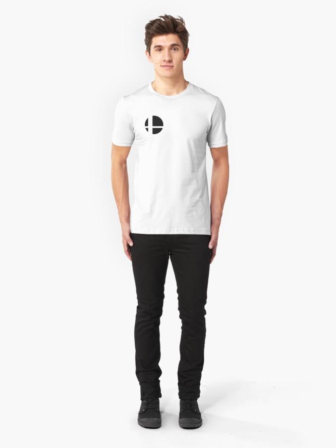 Alternate view of Super Smash Bros. Ultimate LOGO! Slim Fit T-Shirt