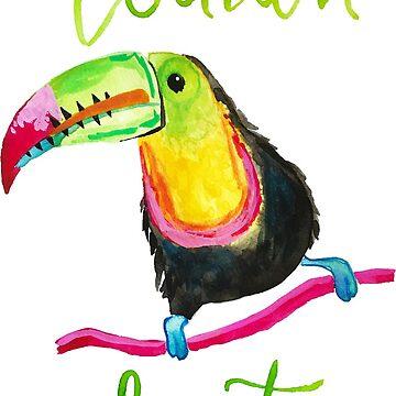 Toucan Do It Funny Watercolor Toucan by jmac111