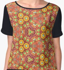 design psychedelic multi-colored seamless colorful repeat pattern Chiffon Top