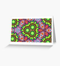 colors bumper garden digital cover floral seamless colorful repeat pattern Greeting Card