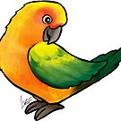 Sun Conure by Jennifer Stolzer