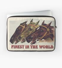 Finest in the World - Vintage Horse Racing Print Laptop Sleeve