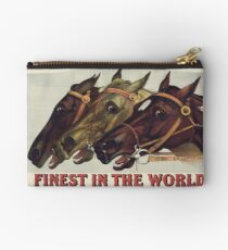 Finest in the World - Vintage Horse Racing Print Studio Pouch