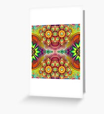 design violet floral colors black multi-colored seamless colorful repeat pattern Greeting Card