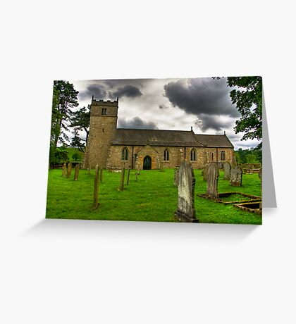 Holy Trinity - Coverham,Yorkshire Dales Greeting Card