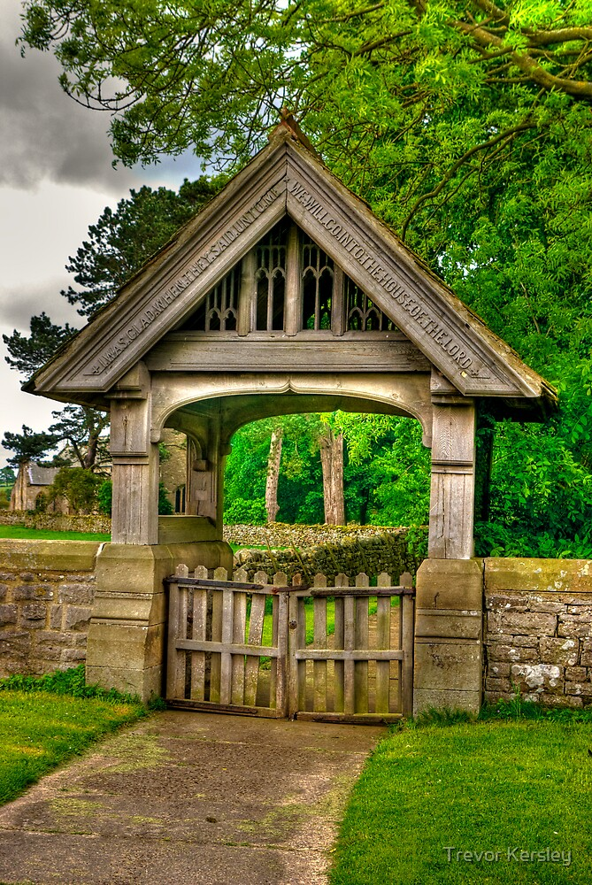 Lych-Gate, Holy Trinity, Coverham by Trevor Kersley