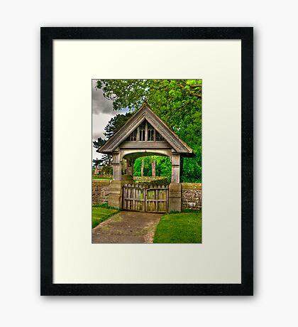 Lych-Gate, Holy Trinity, Coverham Framed Print