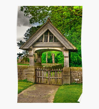Lych-Gate, Holy Trinity, Coverham Poster
