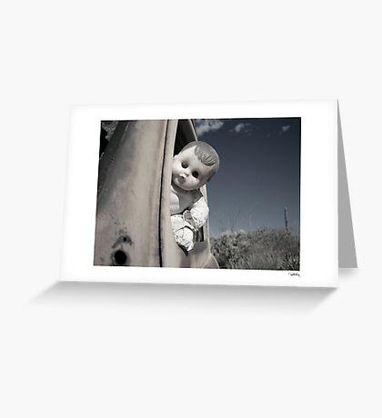 Doll at the wheel Greeting Card