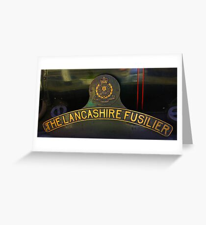Name Plate 'The Lancashire Fusilier' Greeting Card