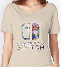 Nintendo Switch Logo Women's Relaxed Fit T-Shirt