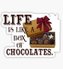 """Life is like a box of chocolates"" Print Sticker"