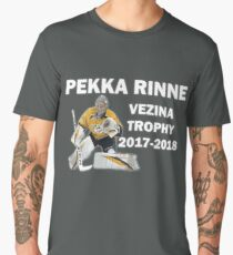 Pekka Rinne - Vezina Trophy Winner 2017-2018 - Nashville Predators Men's Premium T-Shirt