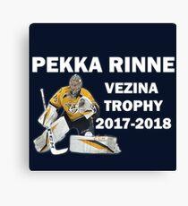 Pekka Rinne - Vezina Trophy Winner 2017-2018 - Nashville Predators Canvas Print