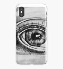 Double Vision - Graphite Eye Pencil Drawing  iPhone Case