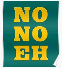 No No Eh Seattle Baseball Poster