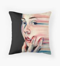 Stretch - Pastel Drawing Throw Pillow