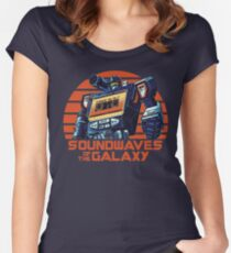 Soundwaves of the Galaxy Women's Fitted Scoop T-Shirt
