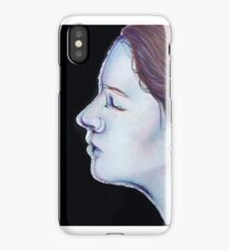 Linework - Pastel & Ink Face Drawing  iPhone Case