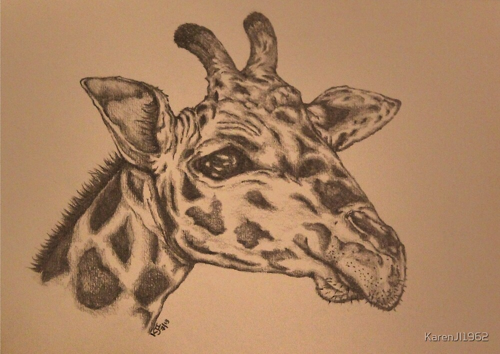 Giraffe Junior by KarenJI1962