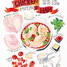 Chicken and Ham Delight by ploveprints