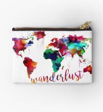 Watercolor Wanderlust World Map  Studio Pouch