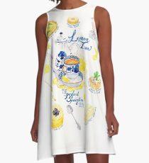 Lemon Tea A-Line Dress