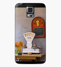 still life with a white scale and flowers Case/Skin for Samsung Galaxy