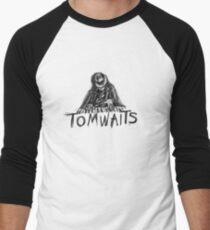 Tom Waits Cartoon Sketch Men's Baseball ¾ T-Shirt