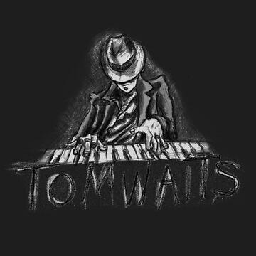 Tom Waits Cartoon Sketch by dmbarnham