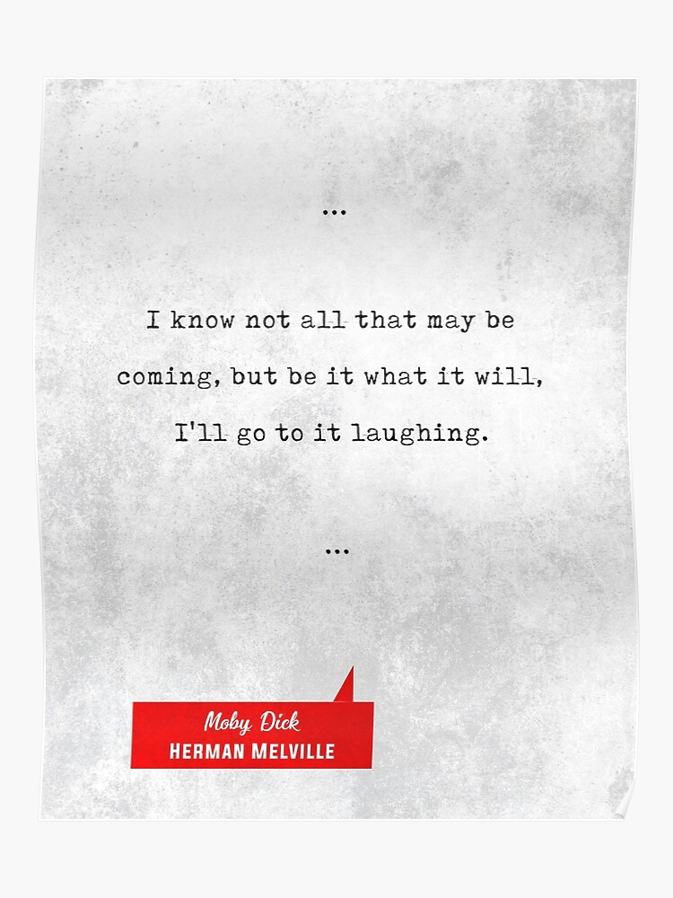 Literary Quotes | Herman Melville Quotes Moby Dick Literary Quotes Book Lover Gifts Typewriter Quotes Poster