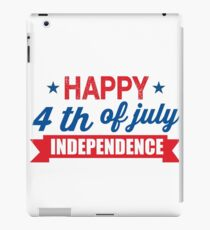 Happy 4th of July Independence Day  iPad Case/Skin