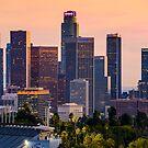 L.A. Downtown Sunset by Radek Hofman