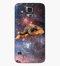 Funda/vinilo para Samsung Galaxy Pizza Sloth en el espacio
