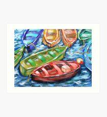 Happy Boats Art Print