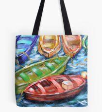 Happy Boats Tote Bag