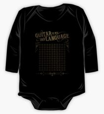 Guitar is My 2nd Language One Piece - Long Sleeve