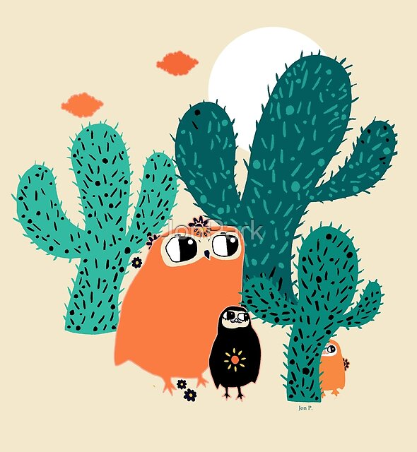friends in cactus field by JonPark