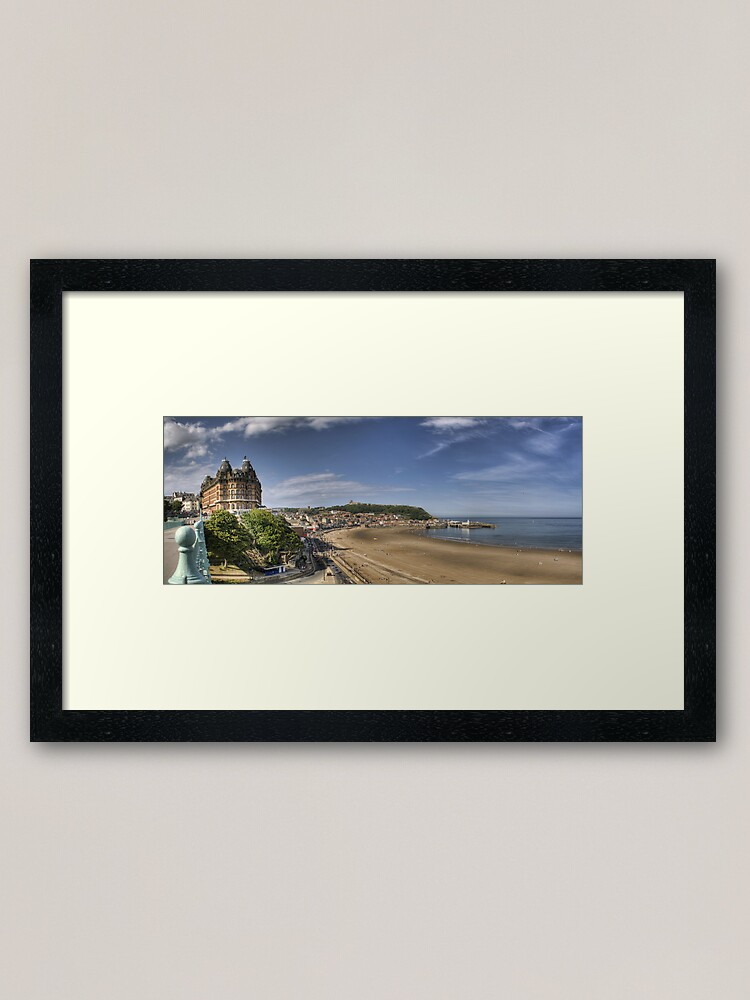 Alternate view of Scarborough Panorama Framed Art Print